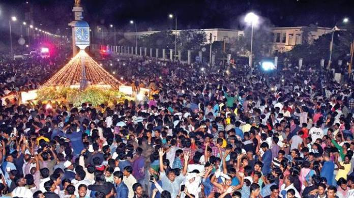 marina beach new year celebrations