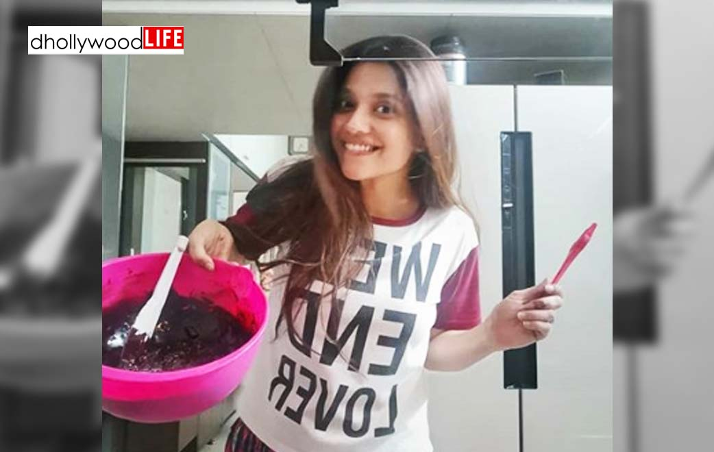 Kinjal Rajpriya is making her family's favourite brownies in K's kitchen