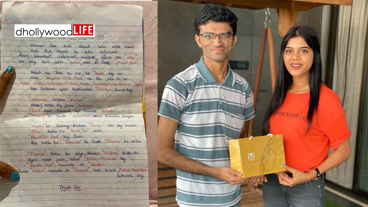 When actress Khushi Shah received an emotional gift from her fans