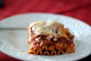 lasagna on plate 6