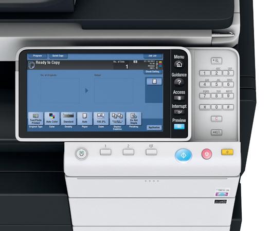 Konica Minolta Bizhub C754e Copier Printer Scanner