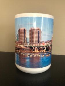 Centre view of Richmond Skyline Elite Mug