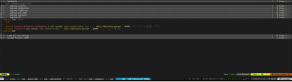 VIM for multiple projects within tmux