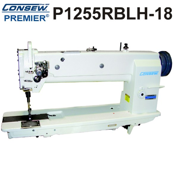 "P1255RBL-18"" LONG ARM, Drop Feed, Needle Feed, Walking Foot, Lockstitch Machine with up to 6"" vertical working space"