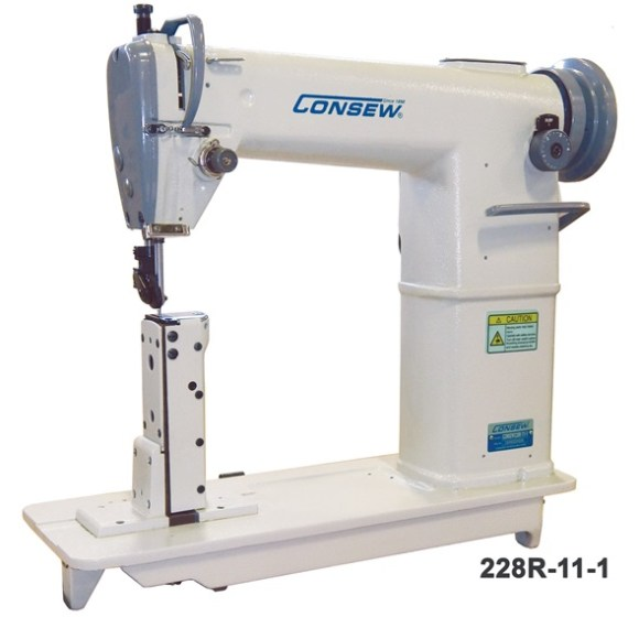 Consew 228R-11-1 High Pose Single Needle with rolling foot.