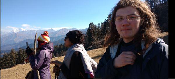 On the way down, KedarKantha Peak