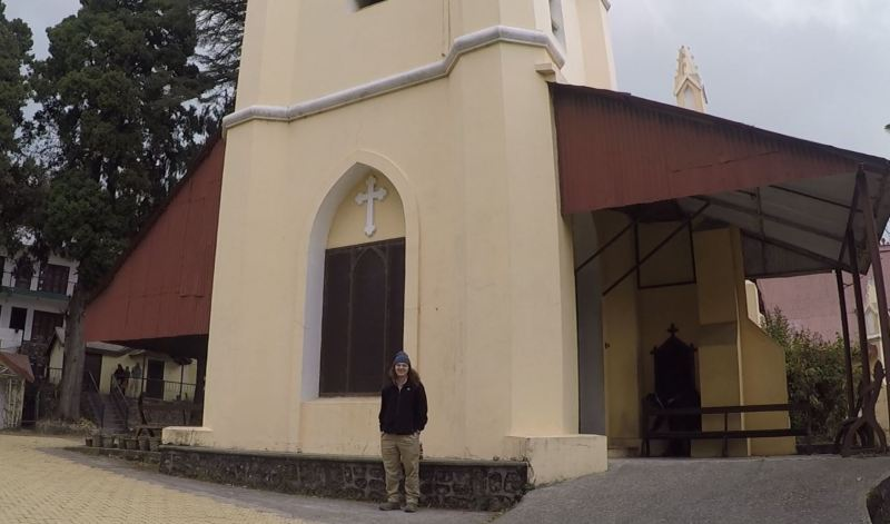 Will at the Church in MUssoorie