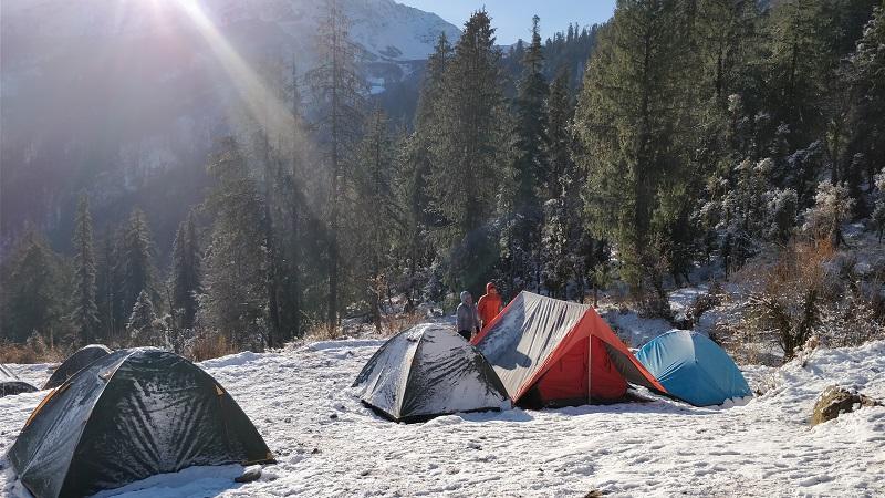 Sunrise at Gulling Top Campsite