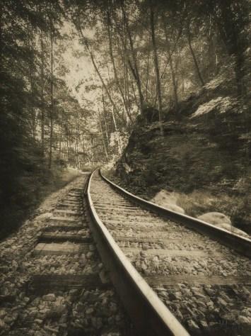 tracks, rail, old, vintage