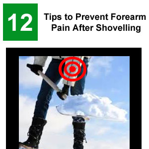 forearm pain after shovelling