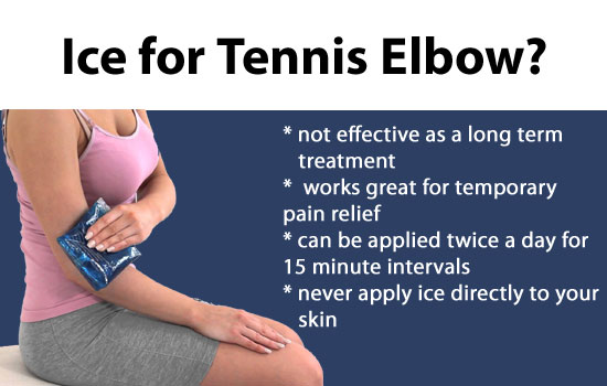 ice for tennis elbow