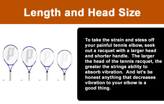 length and head size of racquet