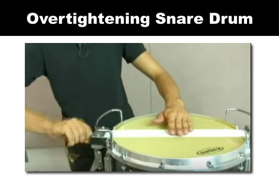 overtight snare drum