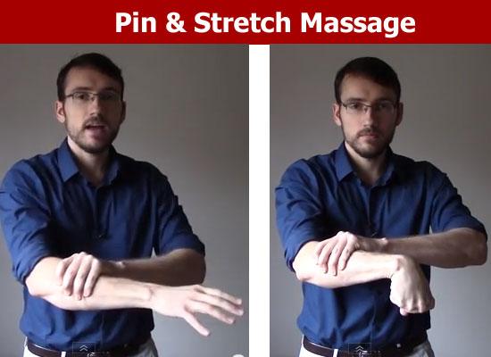 pin stretch massage