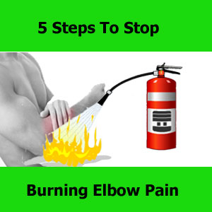 stop burning elbow pain