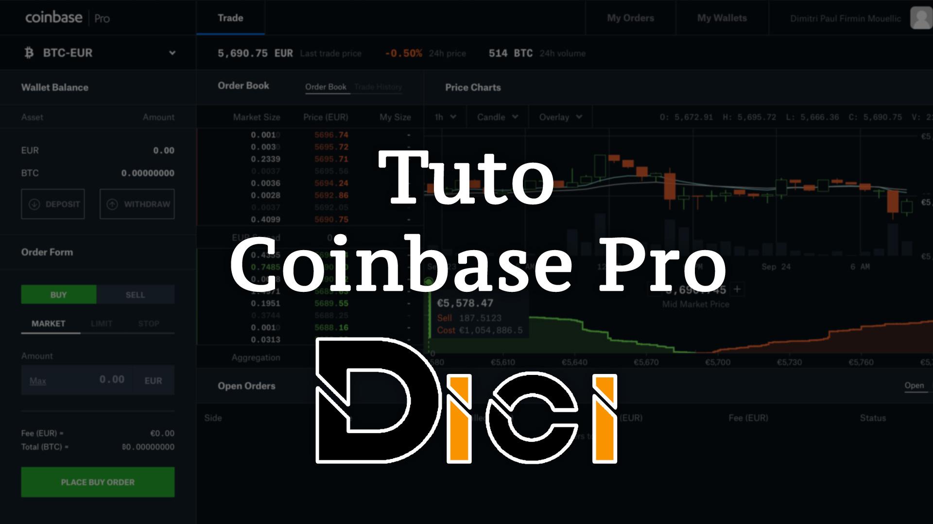 Tuto Coinbase Pro<span class=