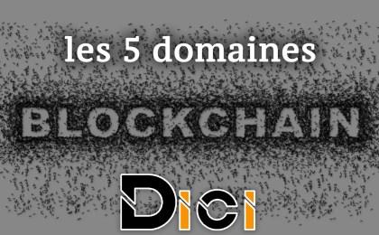 blockchain, finance, divertissement, film, santé, freelance