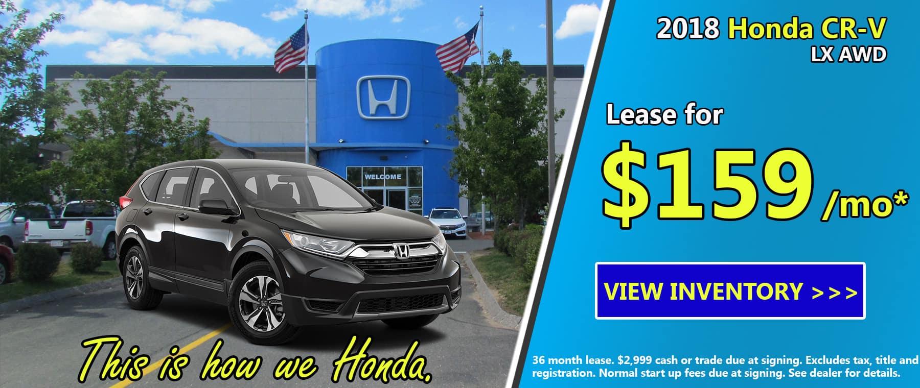 Honda North New Vehicles Danvers Ma