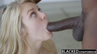 BLACKED Blonde Girlfriend Alli Rae Loves Black Cock