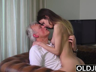 Old And Young Porn Babysitter Pussy Fucked By Old Man And Swallows Cum