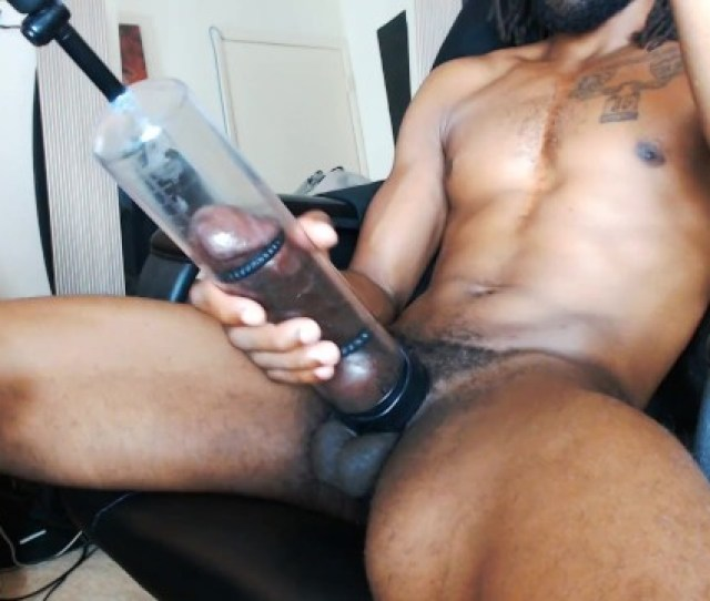 Big Black Cock Live Webcam Cum Show With Fleshlight Penis Pump Anal Plug Pornhub Com