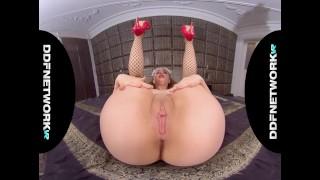French VR maid Lena Reif rides your big hard boner in POV hardcore porn
