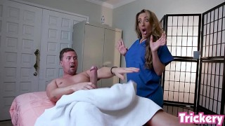 Trickery - Richelle Ryan gives client with a big cock a naughty massage