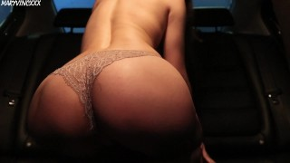 Girl masturbates in the car & cums in her favorite panties - MaryVincXXX