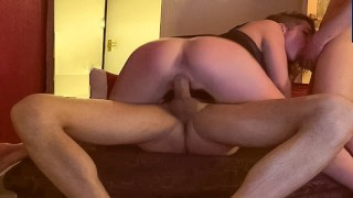 (Second Part)Two Cocks Fucks Me Better POV Double Barrel, Threesome Party.