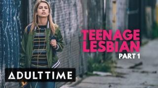ADULT TIME Teenage Lesbian- Kristen Scott Peeps On Couple at Party