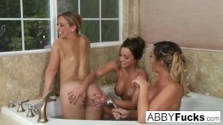 3-way lesbian fun with Abigail Mac, Cherie & Destiny
