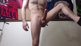 Huge cumshot from young stud!