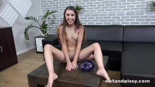 Innocent Babe Toys Her Pissy Pussy