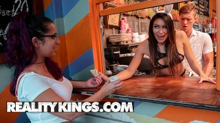 Reality Kings - Latina Katana Kombat eats some whipcream cock