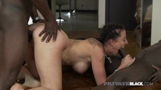 PrivateBlack - Hippy Texas Patti Spreads Cheeks For 2 BBCs!