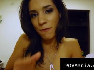 PovManiaDOTcom – Tia Cyrus Sucks & Milks A Hard Throbbing Cock