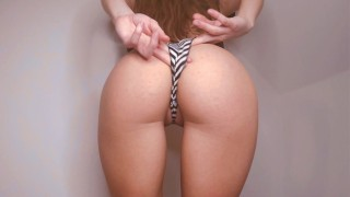 Let me tease you again with trying on panties: Fit amateu babe & small tits