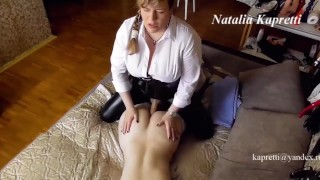 Adult lesbian Fucks a girl in the ass and cums in her mouth with sperm