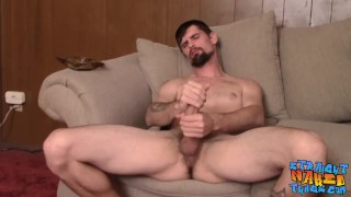 Smoking drag for straight stud that loves jerking off
