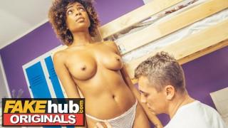 FAKEhub Blind Brazilian Ebony Babe has big squirting orgasm