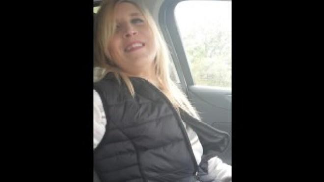 I'm in my car, trying out my remote vibrator, its soooooo good !!, Tori Avano pornstar under Blonde, MILF, Toys, Masturbation, British, orgasm, sex toys, car masturbation