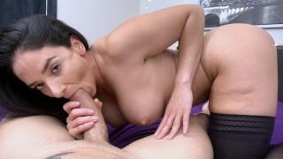 Busty MILF Sheena Ryder Masturbates & Sucks A Huge Cock!