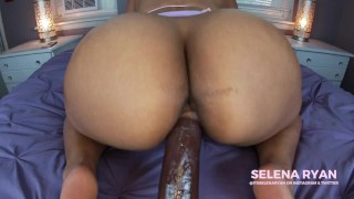 Fat Ass Latina Takes Her First BBC: Dildo Ride - SelenaRyan