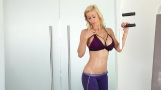 Elegant Angel: Alexis Fawx Squirts During Her Workout