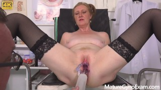 Hot GILF Angelina Gyno Exam