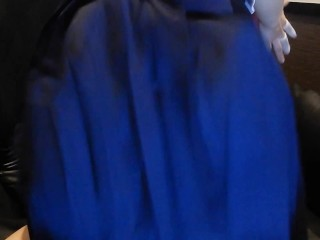 セーラー服JKが個室ネットカフェでアナルにしっぽをつけてオナニー