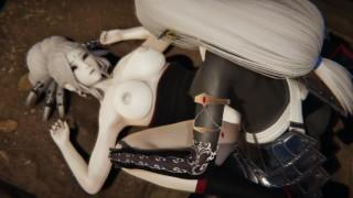 Futa - RWBY - Dark Elf x Salem - 3D Porn