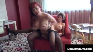 Big Chested Texas Cougar Deauxma Muff Stuffs Sexy Vanessa!