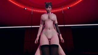 Futa Harley Quinn fuck Catwoman [3D]