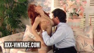 Vintage redhead Jessica Foxxx enjoys sex with her boss